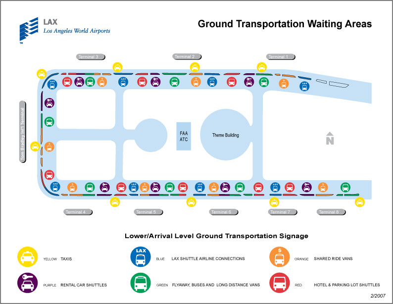 Los Angeles Airport Car Rental Map